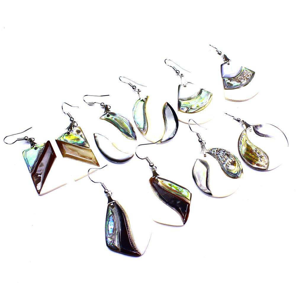 Abolene Shell 5Pcs Fashion Jewelry.925 Silver Plated Wholesale Earring Lot L0124
