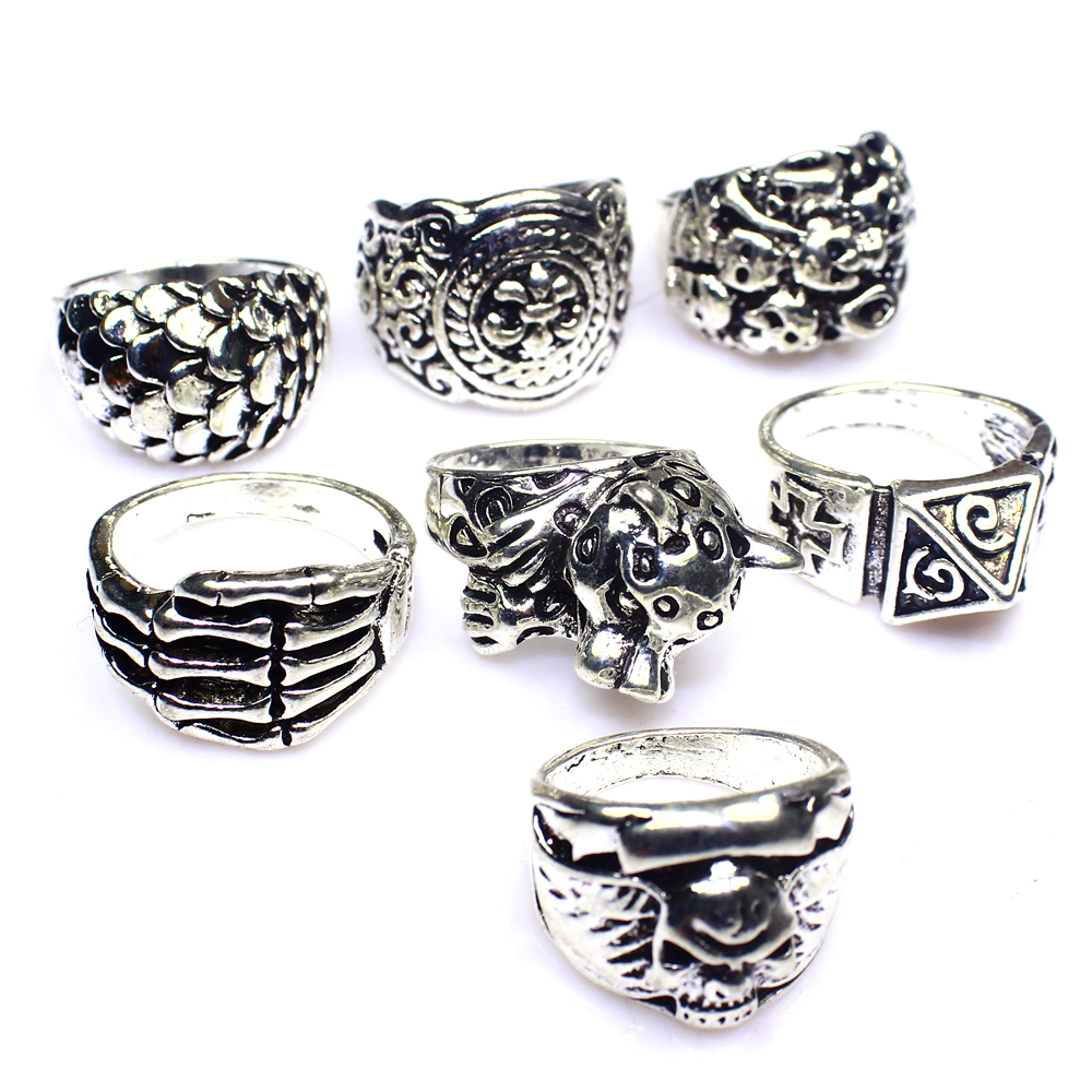 Mixed Designable Plain 7Pcs Fashion Jewelry .925 Silver Plated Rings Lot 322