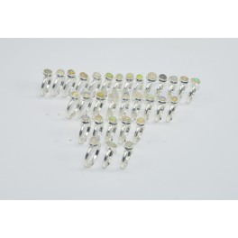 Wholesale31PC925 Solid Sterling Silver NATURAL ETHIOPIAN OPAL RING Lot GTC027