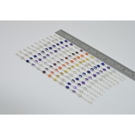 Wholesale11PC 925 SolidSterlingSilver 7 STONE HEALING CHAKRA BRACELET Lot