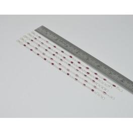 Wholesale5PC 925 Solid Sterling SilverCUT RED RUBY MULTI GEM BRACELET Lot