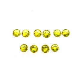 WHOLESALE 5PR 925 SOLID STERLING 24CT GOLD OVERLAY CUT GREEN PERIDOT STUD LOT