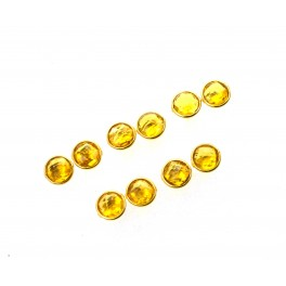 WHOLESALE 5PR 925 SOLID STERLING 24CT GOLD OVERLAY CUT CITRINE STUD LOT