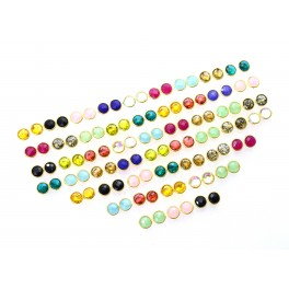 WHOLESALE 51PR 925 SOLID STERLING 24CT GOLD OVERLAY BLACK ONYX MIX STUD LOT