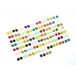 WHOLESALE 65PR 925 SOLID STERLING 24CT GOLD OVERLAY BLUE SAPPHIRE STUD LOT
