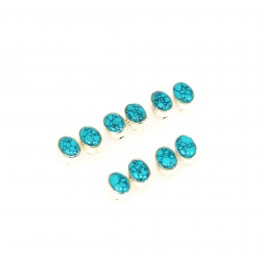 WHOLESALE 5PR 925 SOLID STERLING SILVER BLUE TURQUOISE STUD EARRING LOT