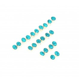 WHOLESALE 11PR 925 SOLID STERLING SILVER BLUE TURQUOISE STUD EARRING LOT