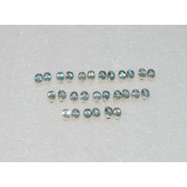 WHOLESALE 14PR 925 SOLID STERLING SILVER FACETED BLUE TOPAZ STUD EARRING LOT