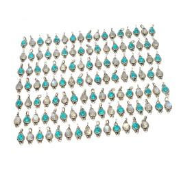 WHOLESALE 116PC 925 SOLID STERLINGSILVER BLUE TURQUOISE MIX PENDANT LOT