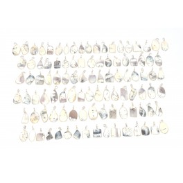 WHOLESALE 183PC 925 SOLID STERLING SILVER DENDRITE OPAL PENDANT LOT
