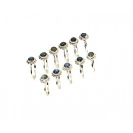 WHOLESALE 11PC 925 SOLID STERLING SILVER LABRADORITE RING LOT