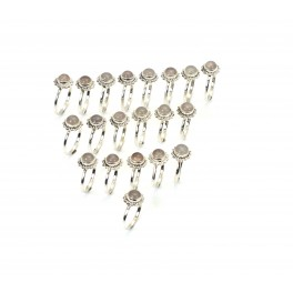 WHOLESALE 20PC 925 SOLID STERLING SILVER PINK ROSE QUARTZ RING LOT