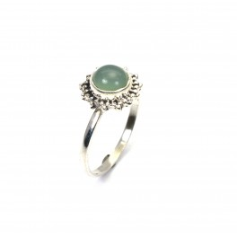925 SOLID STERLING SILVER AQUA CHALCEDONY RING
