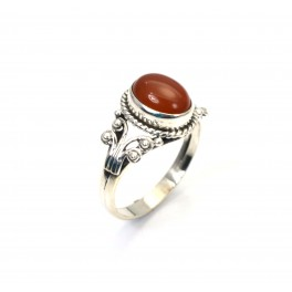 925 SOLID STERLING SILVER RED CARNELIAN RING