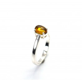 925 SOLID STERLING SILVER YELLOW TOURMALINE RING