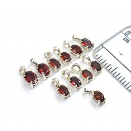 WHOLESALE 11PC 925 SOLID STERLING SILVER RED GARNET PENDANT LOT