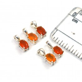WHOLESALE 5PC 925 SOLID STERLING SILVER RED CARNELIAN PENDANT LOT