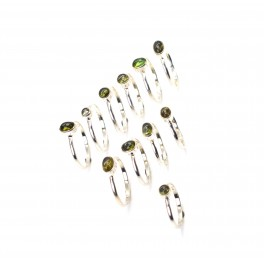 WHOLESALE 11PC 925 SOLID STERLING SILVER GREEN TOURMALINE RING LOT