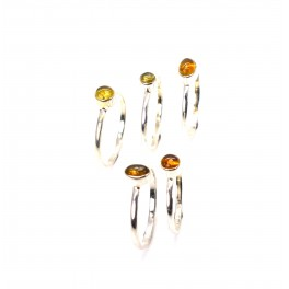 WHOLESALE 5PC 925 SOLID STERLING SILVER YELLOW TOURMALINE RING LOT