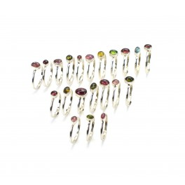 WHOLESALE 21PC 925 SOLID STERLING SILVER YELLOW TOURMALINE MIX STONE RING LOT