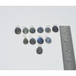 Wholesale 11Pc 925 Sterling Silver Blue Fiery Labradorite Pendant Lot Gtc172