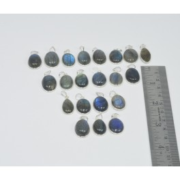 Wholesale 21Pc 925 Sterling Silver Blue Fiery Labradorite Pendant Lot Gtc173