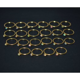 WHOLESALE 22PC 925 STERLING SILVER 24CT GOLD OVERLAY ETHIOPIAN OPAL RING LOT