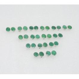 WHOLESALE 15PR925 SOLIDSTERLING SILVER CUT GREEN EMERALD STUD EARRING LOT