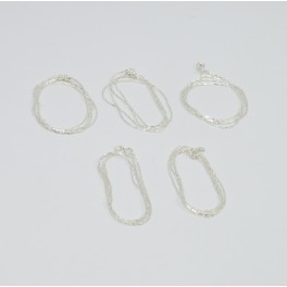 WHOLESALE 5PC 925 SOLID STERLING SILVER PLAIN CHAIN LOT   O