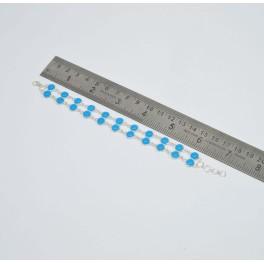 925 SOLID STERLING SILVER BLUE CHALCEDONY BRACELET- 7.2 INCH