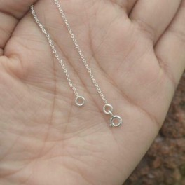 925 SOLID STERLING SILVER PLAIN CHAIN NECKLACE- 22 INCH