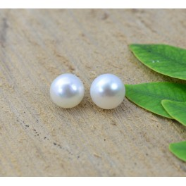 925 SOLID STERLING SILVER FRESHWATER PEARL STUD EARRING