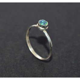 925 SOLID STERLING SILVER NATURAL BLACK ETHIOPIAN OPAL RING