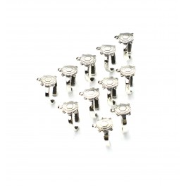 WHOLESALE 11PC 925 SOLID STERLING SILVER TURTLE ADJUSTABLE TOE RING LOT