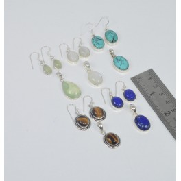 WHOLESALE 5SET 925 SOLID STERLING SILVER TURQUOISE MIX EARRING PENDANT SET