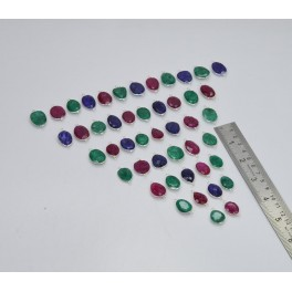 WHOLESALE 47PC 925 SOLID STERLING SILVER RUBY EMERALD SAPPHIRE CONNECTOR LOT