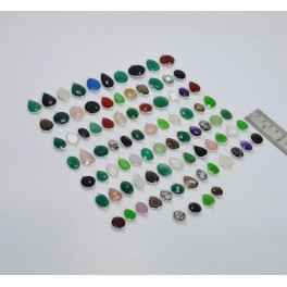 WHOLESALE 88PC 925 SOLID STERLING SILVER SMOKY QUARTZ MIX STONE CONNECTOR LOT