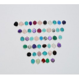 WHOLESALE 49 PC 925 SOLID STERLING SILVER TURQUOISE MIX STONE CONNECTOR LOT