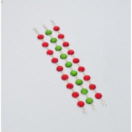 WHOLESALE 3PC 925 STERLING SILVER RED GARNET PERIDOT MIX STONE BRACELET LOT