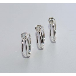 WHOLESALE 3PC 925 SOLID STERLING SILVER CUT BLUE TOPAZ RING LOT
