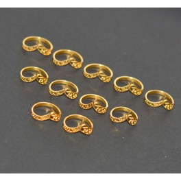 WHOLESALE 11PC 925 SOLID STERLING SILVER 24CT GOLD OVERLAY PLAIN RING LOT