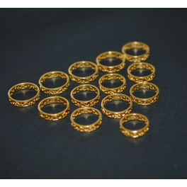 WHOLESALE 10PC 925 SOLID STERLING SILVER 24CT GOLD OVERLAY PLAIN RING LOT
