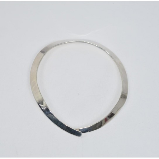 925 SOLID STERLING SILVER PLAIN NECKLACE