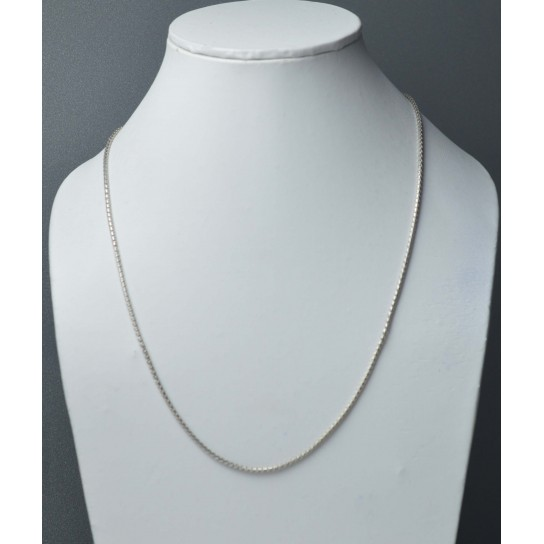 925 SOLID STERLING SILVER PLAIN NECKLACE- 18 INCH