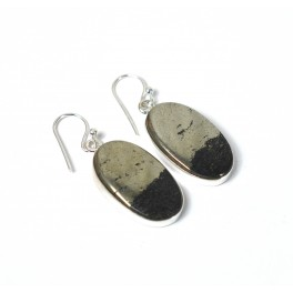 925 SOLID STERLING SILVER APACHE GOLD HOOK EARRING -1.6 INCH