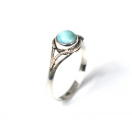 925 SOLID STERLING SILVER BLUE LARIMAR RING-8 US