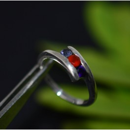 925 SOLID STERLING SILVER CUT RED CAENELIAN MIX RING -5 US