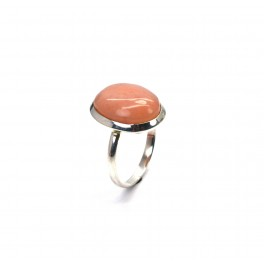 925 SOLID STERLING SILVER PINK OPAL RING -9 US