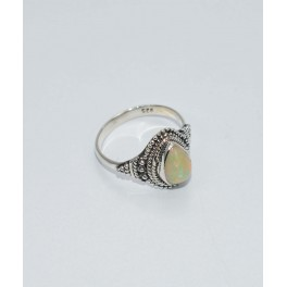 925 SOLID STERLING SILVER ETHIOPIAN OPAL RING- 8.5 US