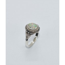 925 SOLID STERLING SILVER ETHIOPIAN OPAL RING- 7.5 US